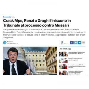 Crack Mps tribunale