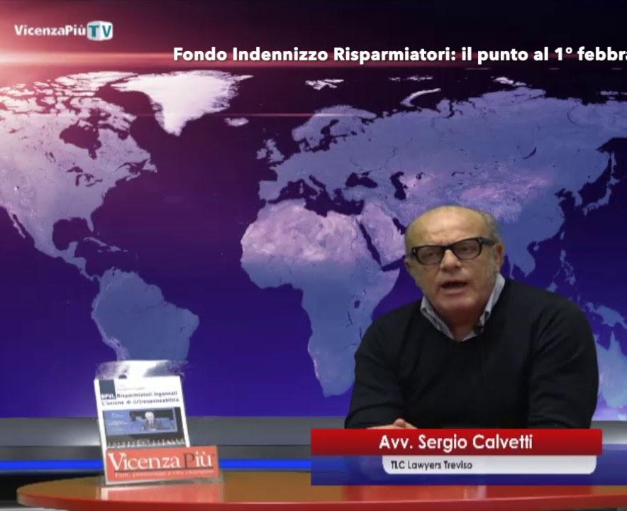 Fondo Indennizzo Risparmiatori avvocato Sergio Calvetti Treviso